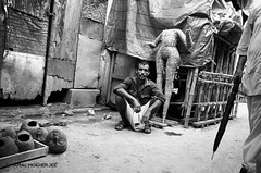 Grounded (Tamal Mukherjee PhotoSutra) Tags: life street city people india art photography nikon culture streetphotography hinduism kolkata bengal calcutta idols durga kumartuli kumortuli d7000 tamalmukherjee