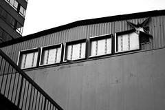 (Gruszka!) Tags: city windows urban blackandwhite bw building window architecture blackwhite industrial diagonal linescurves