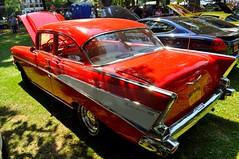 Very red 57 (352Digz) Tags: show park new york red lake ontario hot classic chevrolet beach car nikon automotive 1957 rod annual 25th nikkor custom olcott 2014 krull d5000