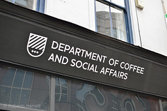 Department of Coffee and Social Affairs coffee house cafe in Leather Lane, Farringdon, London, UK (Roberto Herrett) Tags: uk greatbritain england london college students coffee sign horizontal outside crazy cafe student funny university humorous exterior unitedkingdom absurd britain culture social nobody front lazy madness holborn signage gb ridiculous leisure uni unusual amusing names mad coffeehouse freetime clerkenwell department farringdon subjects quirky laziness useless cafes socialising external distraction courses stockphoto affairs naming universities frontage absurdity wasteoftime leatherlane distractions departments rherrettflk