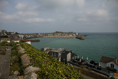 St. Ives, Cornwall (Nadialeesi) Tags: uk trip travel light sea summer sky sun sunlight seagulls beach birds clouds canon boats eos freedom seaside europe cornwall day dof cloudy september 7d discovery seashore stives ives 2014 eos7d canoneos7d