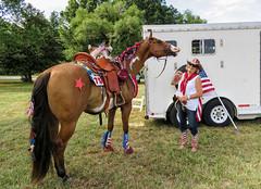 Big Smiles (G K Weir) Tags: horse colorful parade 4thofjuly smalltown equine waxhaw unioncountync fourthofjuly2015