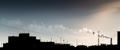 Urban nets (konstantin.radchenko) Tags: downtown sunlight view skyline light evening row clouds over city colorful sunset buildings sky cloudwaves scene beautiful background silhouette cityscape urban line wave panorama blue smoke ship nets net wire