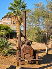 That's Africa too. (vittorio vida) Tags: africa namibia travel hotel past pasado rust desert mechanic machines old ancient palm