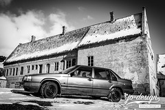 The Volvo (JO-Design.se) Tags: volvo nx1 sweden blackandwhite car ystad 940