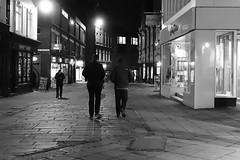 On The Way to T2 [40/365 2017] (steven.kemp) Tags: norwich monochrome blackandwhite castle street night people urban pavement sidewalk