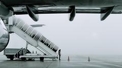 Here We Go Again... (Marie.L.Manzor) Tags: plane silhouette morning scene mist aeroport candid fog nikon d610 marielmanzor