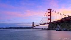 Golden Gate at Dusk (deepaksviewfinder) Tags: ifttt 500px california san francisco fran sf sfo fort baker ft sunset golden hour pastel sky long exposure nd filter vibrant water ocean beach nature landsccape gate bridge gg