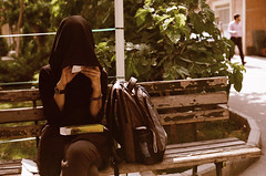 LXXII (Mousssa) Tags: 35mm cellphone backpack bracelets expired nikonfm2 135film petitbeurre afnikkor50mmf14d fujifilmfujicolorsuperia100 coveringthelight amirkabiruniversityoftechnology