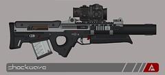 """Quicksilver Industries: """"Margay"""" Designated Marksman Rifle (Shockwave ) Tags: gun rifle quicksilver pimp industries dmr pmg shockwave marksman designated pimpmygun"""
