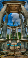Welsh National War Memorial (Richard Deane) Tags: park panorama wales photoshop memorial war roman columns cardiff national nik welsh hdr topaz cathays photomatix vertorama