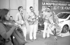 Band (gc6paris) Tags: sky sculpture white black paris france tower film kids contrast dark children french glasses nikon play guitar eiffel tennis salsa greyscale