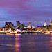 LIVERPOOL SKYLINE CLOUDS AT NIGHT FROM SEACOMBE