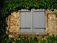 Férolles: shutters & ivy, evening (green voyage (far, far behind, trying to catch up)) Tags: houses windows france evening spring vines îledefrance may ivy shutters walls framing stonewalls virginiacreeper seineetmarne parthenocissusquinquefolia parisregion férolles crécylachapelle
