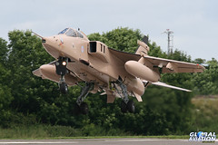 XX725/T - Sepecat Jaguar GR3A - No. 6 Squadron RAF (KarlADrage) Tags: rafcosford 6sqn sepecatjaguar 6squadron gr3a 1sott xx725 desertpink flyingcanopeners