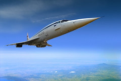 Flight of the Concorde (Beardy Vulcan) Tags: england airplane march spring aircraft flight jet deltawing delta olympus aeroplane surrey concorde britishairways airliner weybridge airtravel supersonic brooklands jetliner 2014 monteamiata mountamiata weyvalley anglofrench