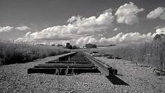cameraphone railroad blackandwhite bw ontario canada... (Photo: JeffStewartPhotos on Flickr)