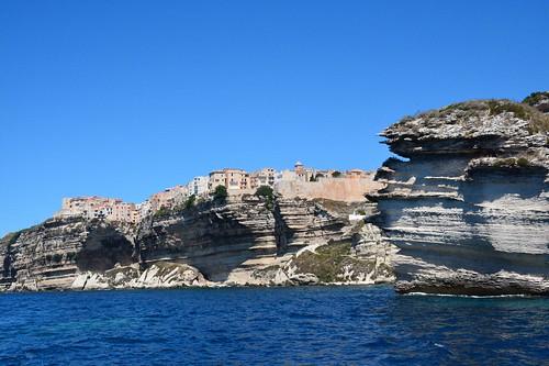 Bonifacio perched on top of limestone cliffs (Corsica, France 2014)