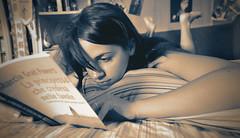 Reading... :) (Luca Schiavello) Tags: italy woman white black rome roma girl reading book eyes libro books read leggendo serenity hairs leggere nlack