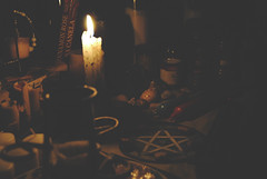 (Kali Bardi.) Tags: light color nature stone religious candle god goddess belief pentagram cult candlelight hue wicca pentacle pagan candlelit wiccan eligioin