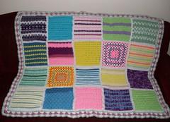 Jill Schisel (The Crochet Crowd) Tags: mikey yarn blanket afghan cathy redheart challenge throw supersaver crochetsquares crochetchallenge thecrochetcrowd michaelsellick freeafghanpattern freecrochetvideos stitchcation