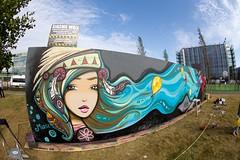 """kiasma_wall_ninakuukari_ruusa (12) (Helsinki street art office Supafly) Tags: streetart color art graffiti helsinki colorful kiasma spray hel graffitiart """"street graffitiwall art"""" katutaide supafly ruusa kiasmawall katutaideseinä ninakuukari"""
