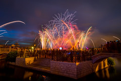 Epcot - Fireworks over Venice (SpreadTheMagic) Tags: italy reflections canal epcot fireworks earth illuminations disney fav25
