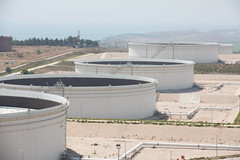 Crude oil storage tanks at the Ceyhan Terminal in Turkey (BP_images) Tags: turkey marketing terminal bp operating tanks rm refining ceyhan operational tankfarm