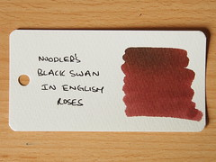 Noodler's Black Swan in English Roses - Word Card