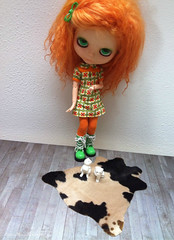FOR SALE: Cowskin rug playscale