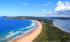 Barrenjoey head from Barrenjoey house (Margaret Konikkara) Tags: ocean blue sea sky lighthouse green beach nature clouds forest pier walks waves view path sydney lookout hike views nsw palmbeach barrenjoey waterview gumtrees barrenjoeylighthouse theboathouse