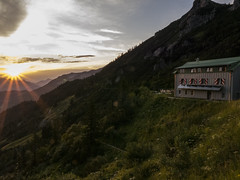 sunset @Stripsenjochhaus (Frank Wittig) Tags: sun mountains nature landscape lumix austria sterreich hiking natur panasonic berge g6 landschaft sonne wandern kufstein stripsenjochhaus kaisertour frankwittig