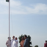 Flag Hoisting By Swamiji and Chief Guest