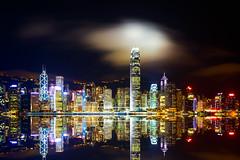 Seafront of Victoria Harbour at Night (egor.gribanov) Tags: city hk night canon landscape hongkong cityscape 150watt