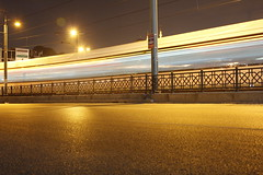 Fast and furious (z_demiralp) Tags: street light night turkey turkiye istanbul tramvay eminonu