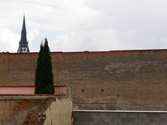 Enigma of the Spi suburb (DeBeer) Tags: urban tower art clock church wall mystery corner landscape photography gothic surreal enigma spire mysterious slovensko slovakia suburb surrealist hommage homage dechirico metaphysical chirico metaphysic spis giorgiodechirico spi spicounty