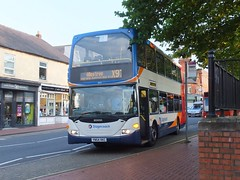 Stagecoach X97 to Allestree (Guy Arab UF) Tags: bus buses place market derbyshire ripley east chesterfield stagecoach scania lancs 15413 omnidekka n94ud yn54vkc