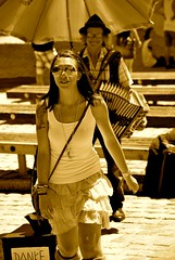 The musician (MisterPunktBunthaut) Tags: summer music sun girl monochrome sunglasses smiling sepia austria nikon perfect day shot awesome sunny graz georgeous d5300