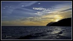 Atardecer en Calblanque (jarm - Cartagena) Tags: espaa atardecer mar spain playa turismo espagne cartagena turstico calblanque regindemurcia jarm