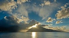 Dominica (sun - rain - sky) (uwe.werling) Tags: ocean travel cruise sky sun water rain weather c