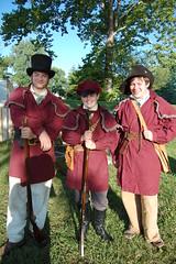 Ft. Jennings 2014 (wrg4ever) Tags: ohio history kids shoot rifle tent spinning militia reenactment reenactor 1812 spinningwheel dropspindle flintlock historicclothing historiccostume ftjennings whiteriverguard