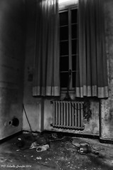Pensiveness (Salamone Giuseppe) Tags: bw white black abandoned nikon decay hell inferno bianco nero desolation d300 abbandoned abbandono decadenza desolute maggiordomo trashbit memoriaof hourofthesoul lodeallinviolato hauntingmono