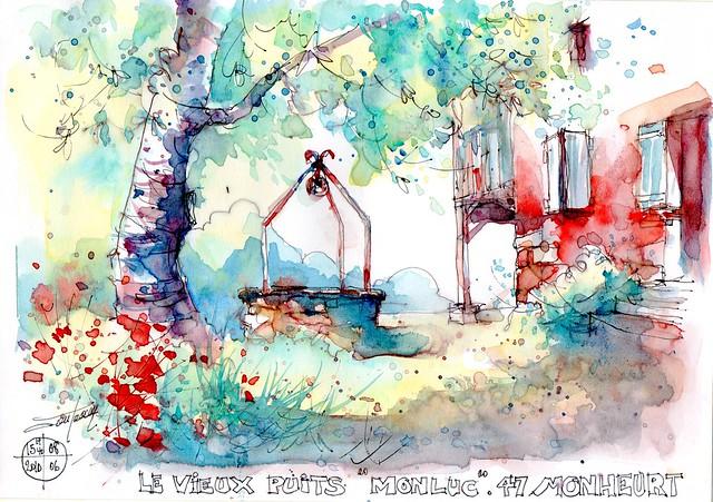 le vieux puits à Monluc  Monheurt ( Lot et Garonne)