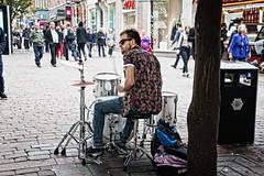 Crash bang wollop (tootdood) Tags: street people manchester sitting market drum crash candid sit drummer kit sat bang performer seated wollop canon70d