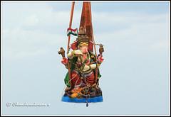 4509 - immersion of Ganesha (chandrasekaran a 38 lakhs views Thanks to all) Tags: india heritage water waves culture traditions cranes chennai hinduism immersion bayofbengal lordsiva lordganesa canon60d
