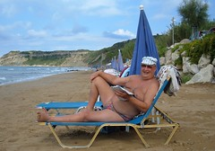 Arillas central beach (pj's memories) Tags: beach sand briefs corfu speedos arillas tanthru kiniki