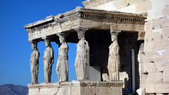 Replica caryatids, south porch, the Erechtheion