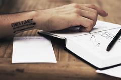 instant. (Alyssa Zo Amaro) Tags: portrait tattoo self typography photography book artist hand alyssa sketchbook poke instant stick z matches simple meaning artisan amaro matchsticks