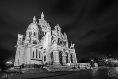 Sacré-coeur, Paris, France (Julien CHARLES photography) Tags: 75018 europe france hdr montmartre paris longexposure night nuit poselongue sacrécoeur wideangle