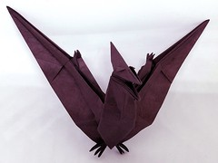 Pteranodon (2008), designed by Fumiaki Kawahata (M@ttyGroves) Tags: purple dinosaur origami paper fumiaki kawahata pteranodon